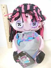 "New Monster High Draculaura Plush Pillow Doll Hugger & Throw Blanket 40"" x 50"""
