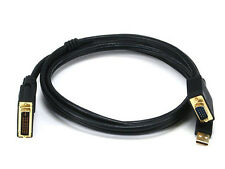 Monoprice 3036 6ft 28AWG VGA & USB (A Type) to M1-D (P&D) Cable - Black