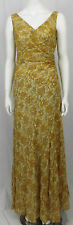 ETXART & PANNO YELLOW SILK DRESS STYLE VO-5060 SIZE  M  ESP 40 SLEEVELESS