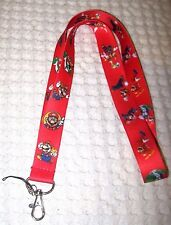 Nintendo Red Mario Brothers Lanyard/Landyard ID Holder Keychain-Brand New!
