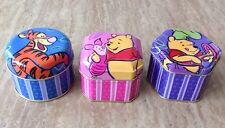 Vintage Winnie the Pooh Candle Tin Set Metal Container Tigger Piglet Disney