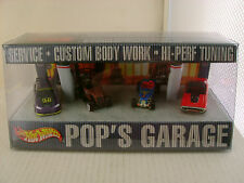 HOT WHEELS POP'S GARAGE SERVICE CUSTOM BODY WORK HI-PERF TUNING 4 CAR SET NEW IN