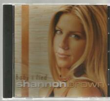 SHANNON BROWN rare BABY I LIED 3 track promo single DRIVE AWAY this side of love