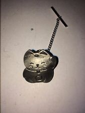BECKENING CAT DR47 Tie Pin With Chain Made From English Pewter