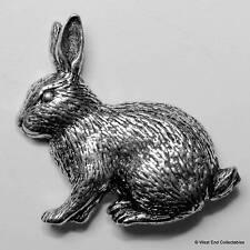 Mascota Rabbit Regalo ~ Peltre Broche - Mano Británica Hecho A Mano- Conejito