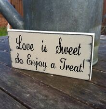 LOVE IS SWEET così godere Atreat non associate shabby chic wedding segno