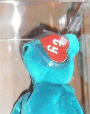 RARE MWMT MQ! Authenticated TY 2nd gen OLD FACE TEAL TEDDY Beanie Baby