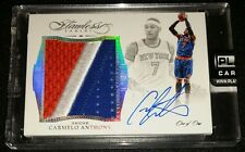 2015-16 FLAWLESS CARMELO ANTHONY AUTO JUMBO PATCH *** #d 1/1 PLATINUM *** rp281