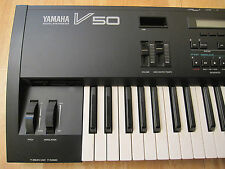 YAMAHA V-50 VINTAGE SYNTHESIZER WORKSTATION CLEAN 4OP DX KEYBOARD NICE!