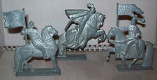 Set 3pcs Vintage metal stannicTin Toy soldier cavalryDragoons battle of the Ice
