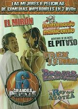 TETO, ALFONSO ZAYAS CABALLO ROJAS SEXY COMEDY DVD 6 MOVIES PACK NEW SHIPS TODAY