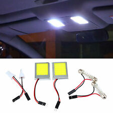 2pcs T10 COB 9W Car Auto Panel Festoon Interior Plate Dome LED Lights Lamp Bulb