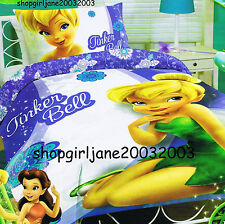 Disney Fairies Tinkerbell Friends Single/US Twin Bed Quilt Doona Duvet Cover Set