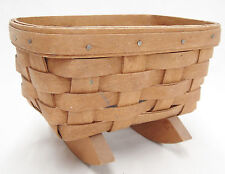 Longaberger Small Rocking Doll Cradle Basket 1980s Stained Inside