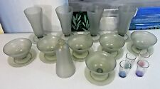 Vintage TUPPERWARE Parfait/Dessert Dishes lot W/bonus RECIPE holders L@@K