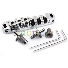 Chrome Roller Saddles Tune-O-Matic Style Bridge for Les Paul LP Guitar