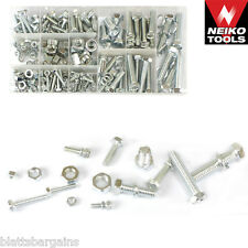 240pc NEIKO ZINC PLATED SAE NUT & BOLT LOCK WASHER ASSORTMENT 50425A