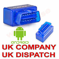 Mini ELM327 OBD2 V2.1 Car Bluetooth Scanner Android Auto Scan Diagnostic Tool UK