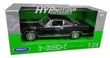 WELLY 1:24 1965 CHEVY IMPALA SS  396 HT DIE-CAST BLACK 22417