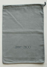 "Jimmy Choo Gray Dust Bag 10"" x 14"" Perfect for Clutch Shoes New Flannel Sleeper"