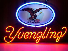 NEW YUENGLING LAGER EAGLE BEER REAL NEON GLASS BEER BAR PUB LIGHT SIGN RH04