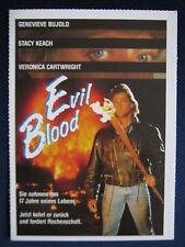 Filmplakatkarte videoplus  Evil Blood   Genevieve Bujold , Stacy Keach