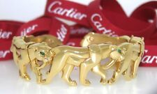 CARTIER PANTHER 18kYG EMERALD BRACELET ~ CARTIER PARADE OF PANTHERS COLLECTION