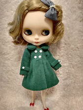 Blythe Outfit Clothing Green Flannelet Jacket Coat