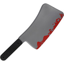 MACELLAIO SANGUINOSO carne Cleaver 45cm COLTELLO Halloween decorazione Prop ARMA FAKE