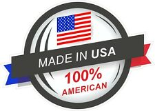 Made In The USA 100% American Rosette & Stars & Stripes Flag vinyl car sticker