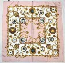 Authentic CHOPARD Classic JEWELRY Watch Pink Green Yellow Twill Gold Silk Scarf