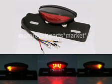 Motorcycle Led Brake Tail Light Turn Signal License Plate Holder Cafe Racer ATV