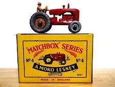 Matchbox Lesney No.4b Massey Harris Tractor In B1 Series MOKO Box (MINT SUPERB!)