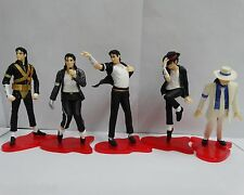 #Ts1~  lot of 5 Michael Jackson best dance moves Figure set 9cm-11cm no box