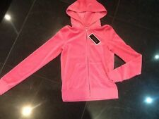 NWT Juicy Couture New & Gen. Ladies Small Pink Velour Hoody With Gold Logo