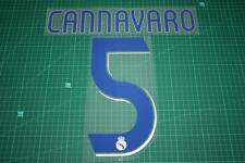 Real Madrid 06/07 #5 CANNAVARO Homekit Nameset Printing