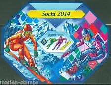 SOLOMON ISLANDS 2014 SOCHI WINTER OLYMPICS SKATING & SKIING S/S IMPERF MINT  NH