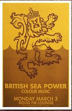 BRITISH SEA POWER 2008 Gig POSTER Portland Oregon Concert