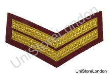 Chevron Corporal Gold on Maroon 150mm 2 Bars Wide R1389