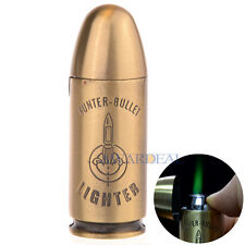 Round Head Hunter Bullet Cigarette Lighter Windproof Butane Gas Refillable Jet
