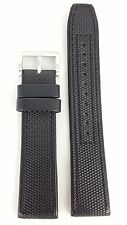 SEIKO AUTOMATIC BLACK LEATHER WATCH BAND SRP031k1 STRAP 30141 B 22 mm 4R15 00A0