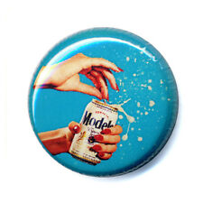 Badge BIERE BEER publicité ancienne vintage 60's 70' pop retro advert pins Ø25mm