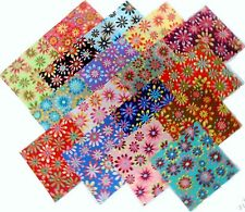 "17 10"" Quilting Fabric Layer Cake Squares  Retro Flower Power!! NEW ITEM"