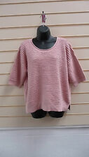 LADIES ROSE TAN SHORT SLEEVE CASUAL JUMPER / SWEATER  SIZE LARGE BNWT