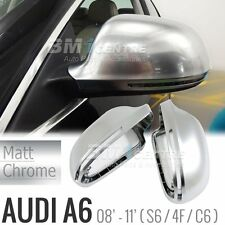 S LINE STYLE SILVER MIRROR COVER MATT CHROME FOR AUDI A6 S6 4F C6 2008-2011 RS6