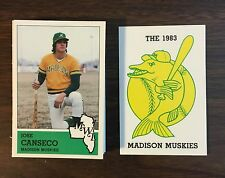 1983 Madison Muskies JOSE CANSECO RC 32 CARD TEAM SET MINT