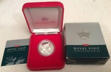 Australia .999 Silver 50 Cent Coin 'A Royal Visit QEII 2000' Boxed With COA.