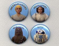 STAR WARS figures four Button Badge Pins set !