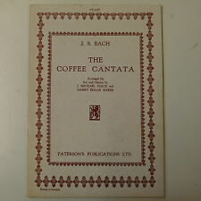 vocal score BACH coffee cantata , paterson - diack / baker ENGLISH