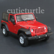 Welly 22489 2007 Jeep Rubicon with Top 1:24 Diecast Model Car Red